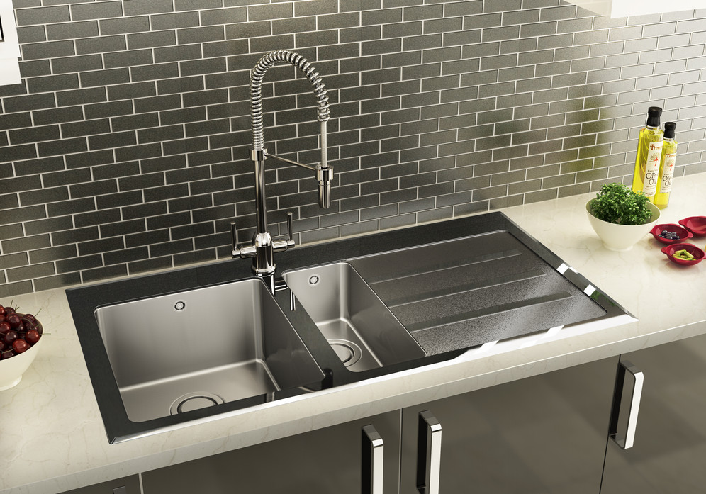 Sinks taps click to enlarge image carron phoenixs silhouette black glass sink workwithnaturefo